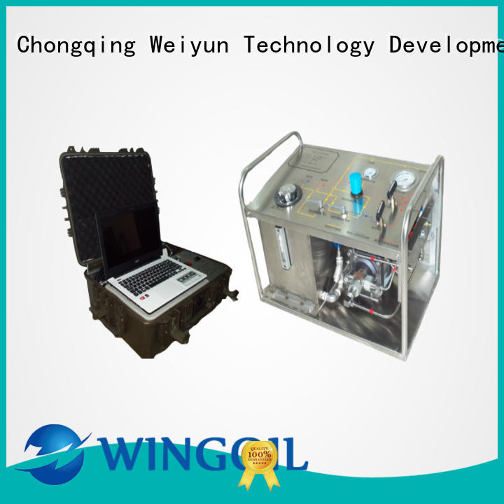 Wingoil high pressure hydro test pump manufacturers For Gas Industry