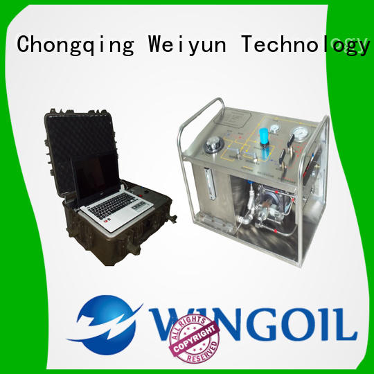 Wingoil hydrostatic water test pump infinitely for offshore