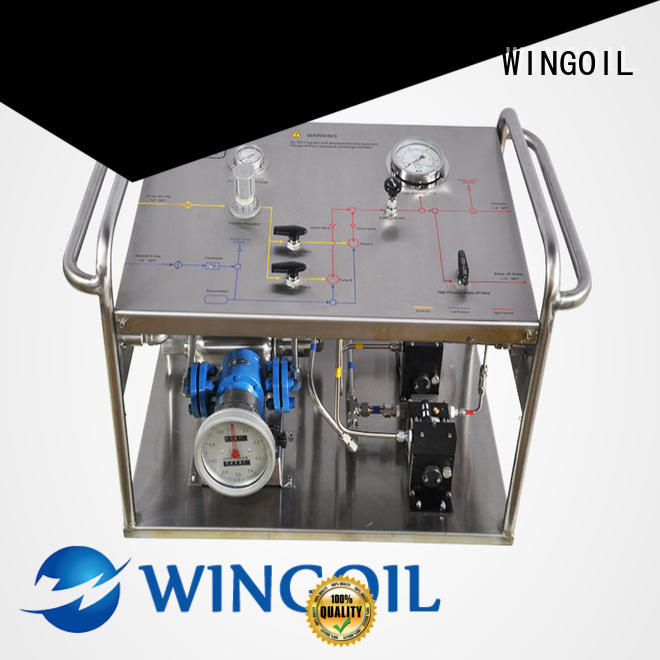 Wingoil manual pressure test pump company For Gas Industry