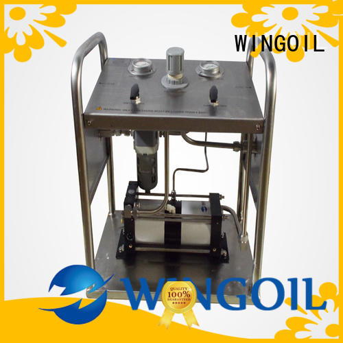 Safety hydrostatic test hand pump For Gas Industry