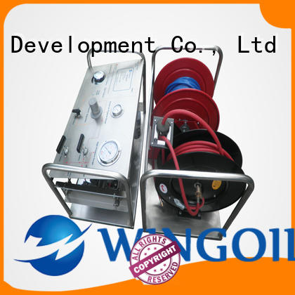 portable hydrostatic test pump for offshore