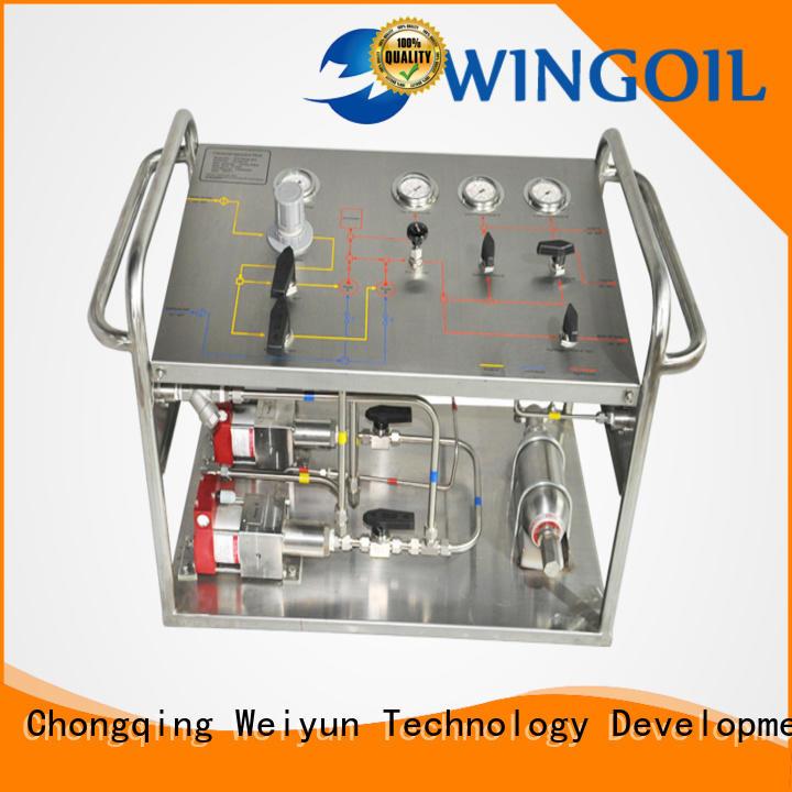 Wingoil hydrostatic pressure test pump in high-pressure For Gas Industry