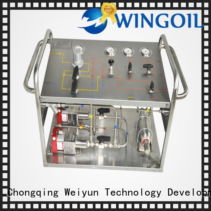 Wingoil popular hydrostatic pressure testing machine manufacturers factory For Gas Industry