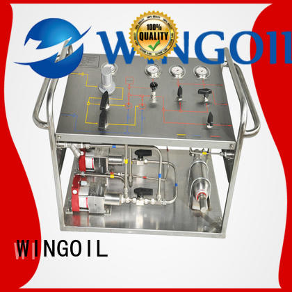 Wingoil Best manual pressure test pump factory For Oil Industry