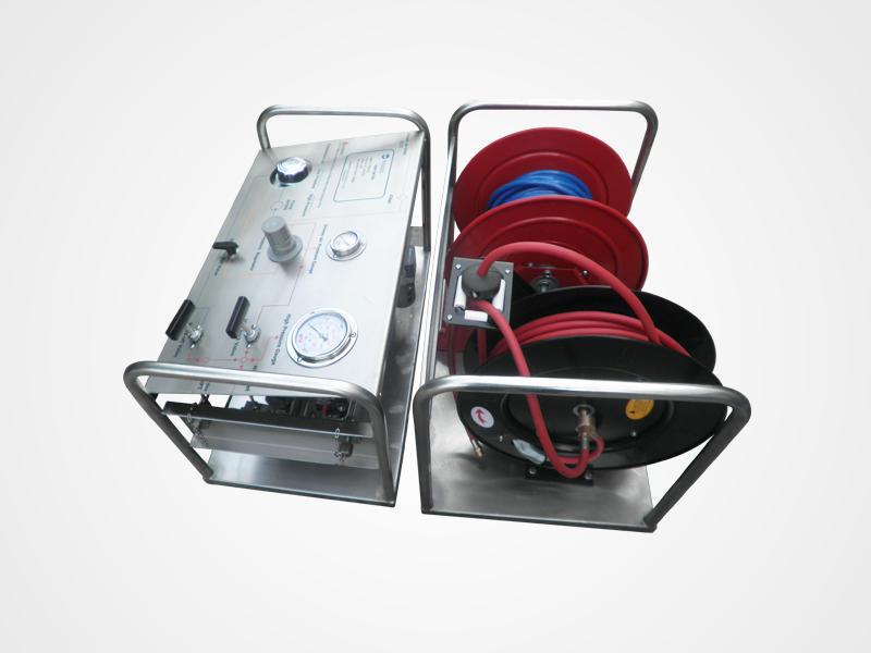 Portable Pressure Testing System & Hose Reels Hydrostatic Pressure Test Pump