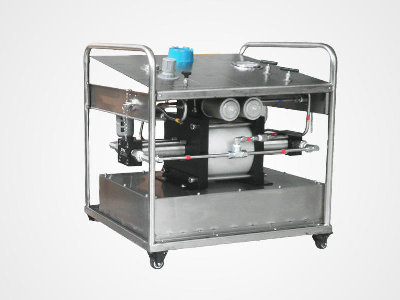 Portable Pressure Testing System With Flow Meter Electric Hydrostatic Test Pump