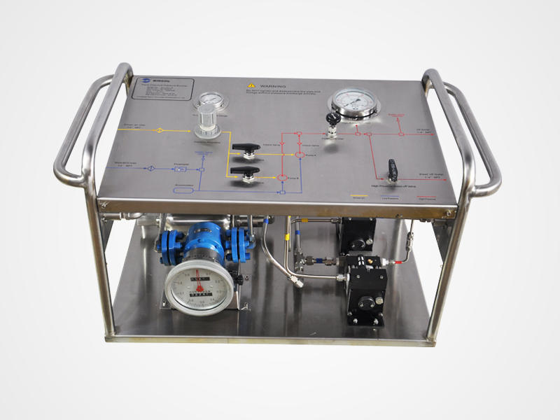 Portable Hydrostatic Pressure Pump With Oval Gear Meter