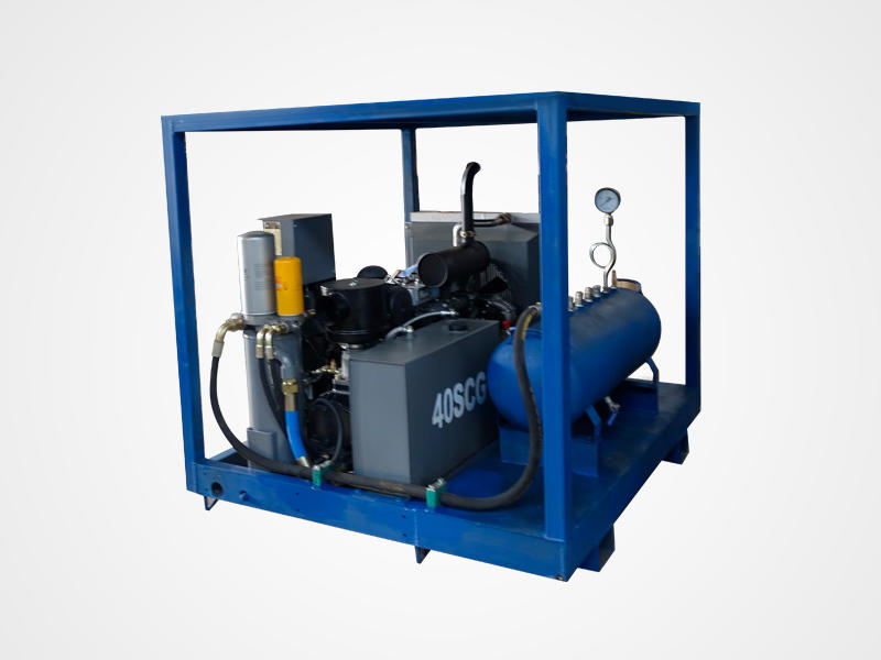 Diesel Engined Air Compressor Pipe Pressure Testing Equipment