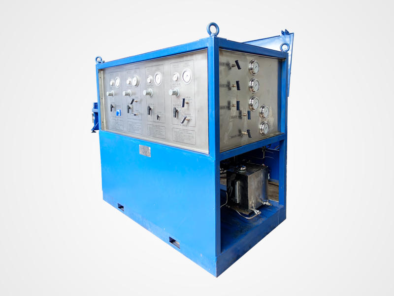 Gas And Liquid Pressure Testing Skid Burst Pressure Test Equipment