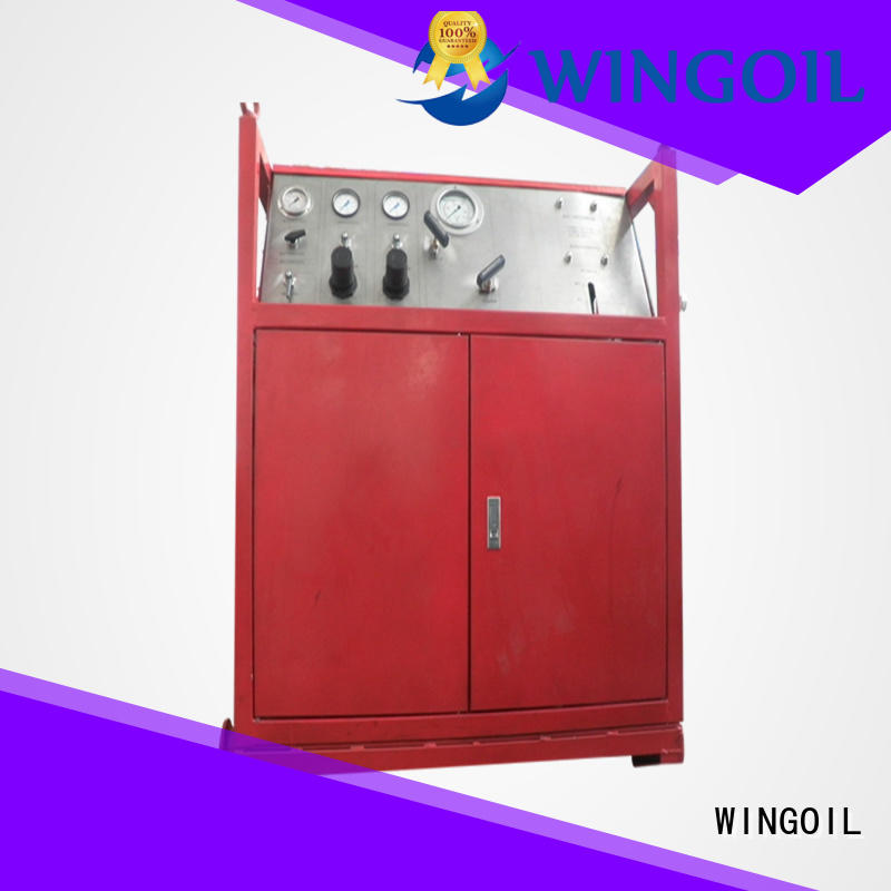 Wingoil high pressure pressure gauge testing equipment factory for onshore