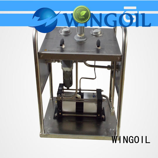 Wingoil hydrostatic pressure test pump infinitely for offshore