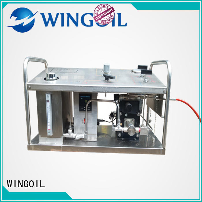Wingoil drill powered hydrostatic test pump widely used for onshore