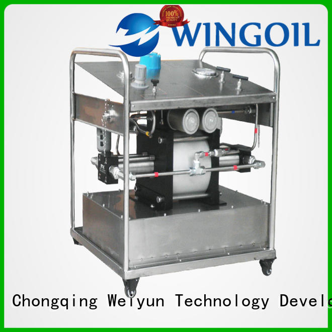 Wingoil high pressure electric hydrostatic test pump widely used For Gas Industry