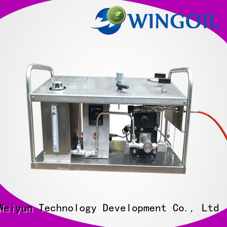 Wingoil high pressure electric hydrostatic test pump With unrivaled expertise for offshore