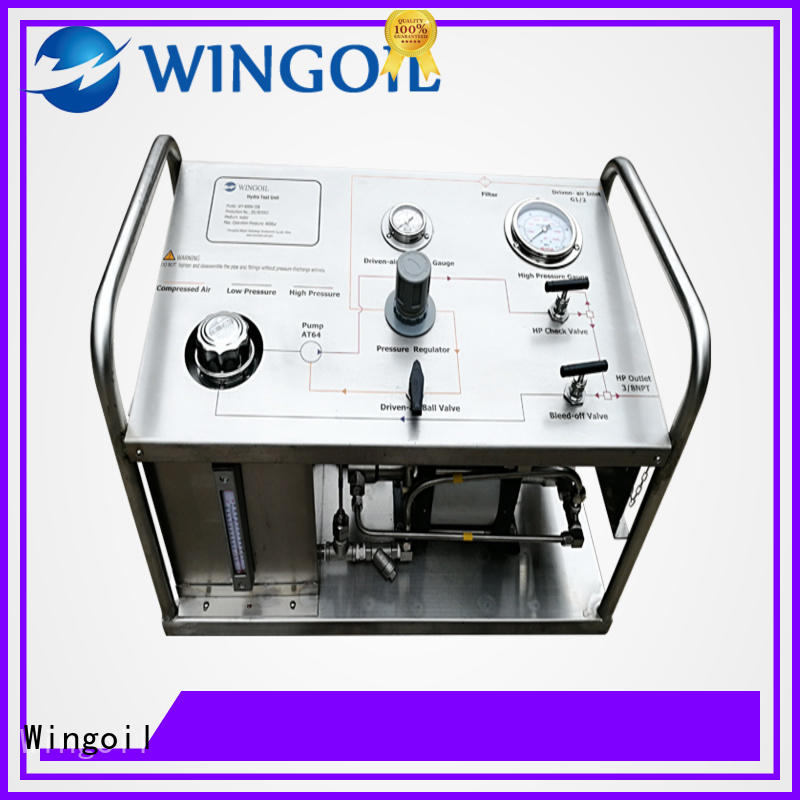 Wingoil high pressure high pressure test pump factory For Oil Industry