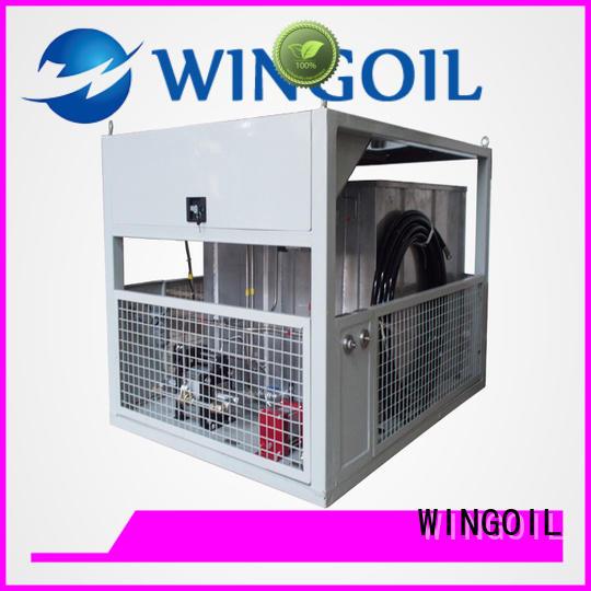 Wingoil tube pressure testing equipment for offshore