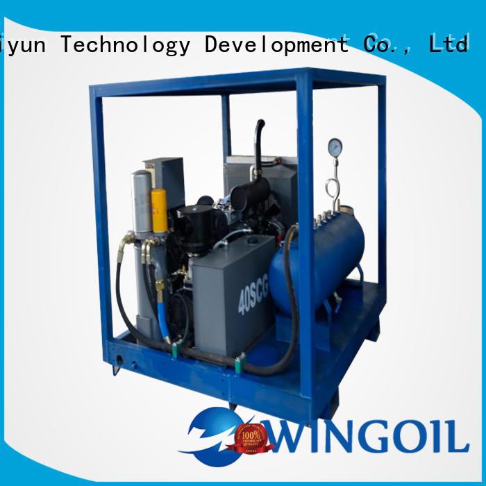 nitrogen pressure testing equipment With Flow Meter for offshore
