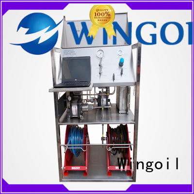 Wingoil valve pressure testing equipment With Flow Meter For Gas Industry