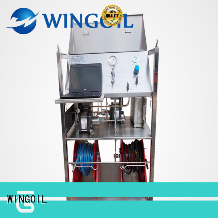 Wingoil Hydro pipeline pressure testing equipment in high-pressure for onshore