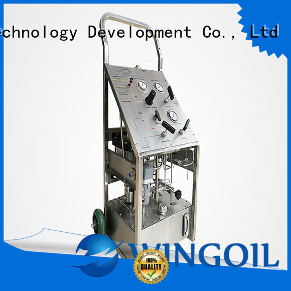 Wingoil hydrostatic pressure test pump in high-pressure for offshore