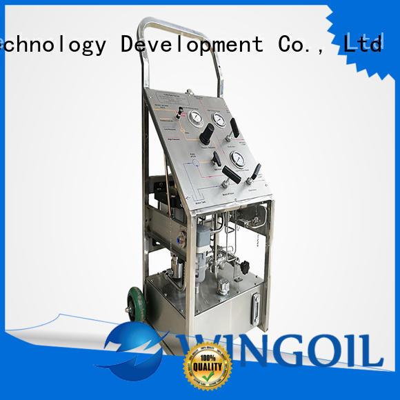 Wingoil hydrostatic pressure test pump in high-pressure for offshore
