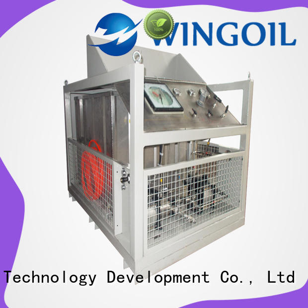 Wingoil duct pressure testing equipment With Flow Meter For Oil Industry