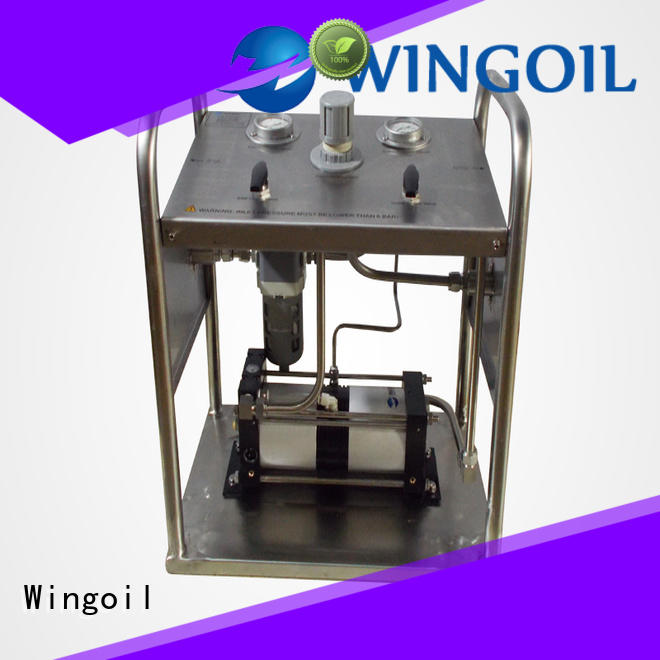 Safety hydrostatic water test pump infinitely for offshore