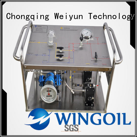 Wingoil popular hydrostatic pressure test pump With unrivaled expertise For Oil Industry