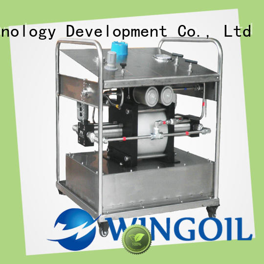 Wingoil hydrostatic hydrostatic pressure test pump in high-pressure For Gas Industry