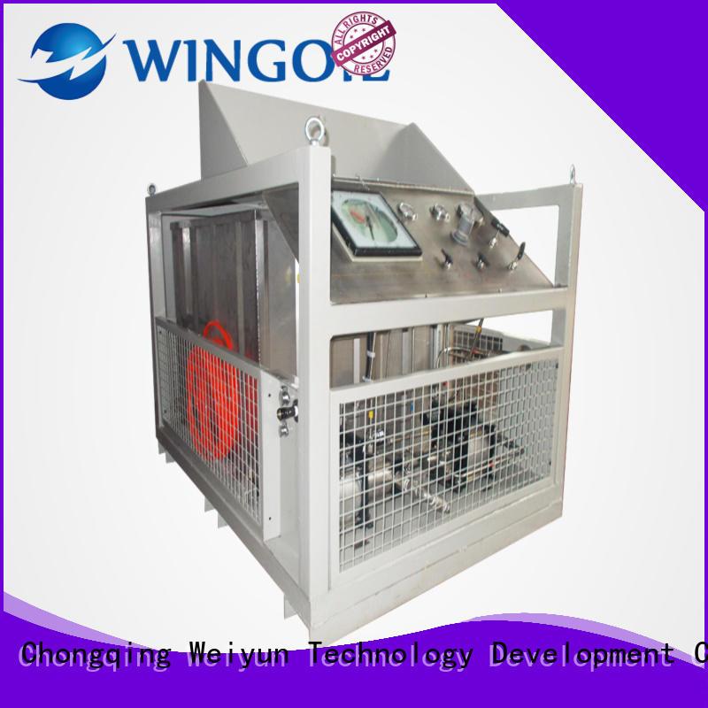 pneumatic water line pressure testing equipment for onshore