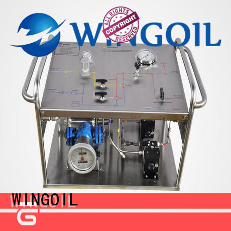 Wingoil hydrostatic test pump infinitely For Gas Industry