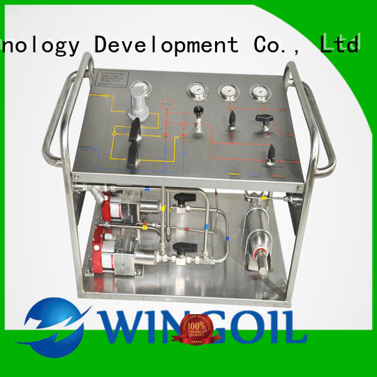 Safety electric hydrostatic test pump widely used For Gas Industry