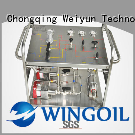 Wingoil hydrostatic pressure testing equipment Supply For Gas Industry