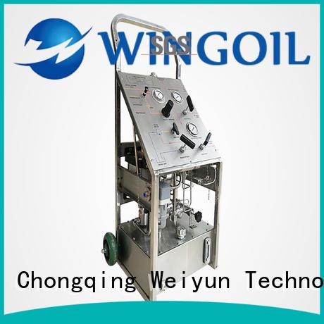 Wingoil hydrostatic test pump infinitely For Oil Industry