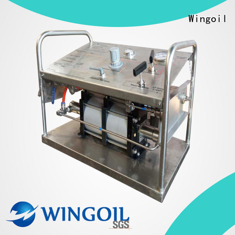 Wingoil hydrostatic pressure pump in high-pressure For Gas Industry