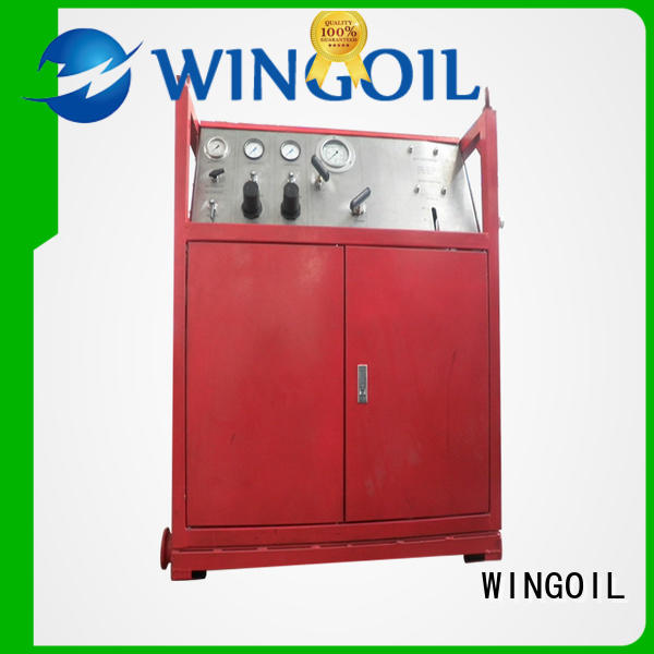 Wingoil Safety burst pressure test equipment in high-pressure for onshore