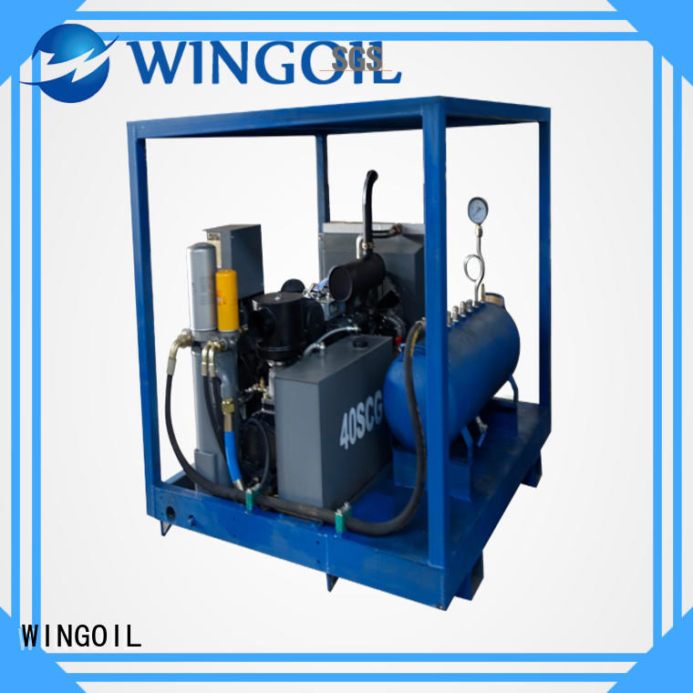 Wingoil pneumatic pipeline pressure testing equipment With Flow Meter for onshore