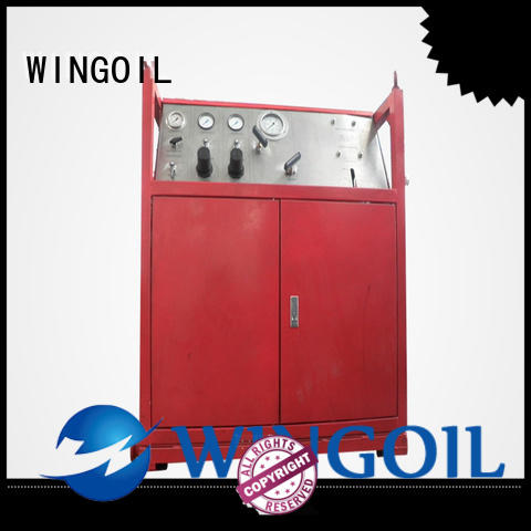 Wingoil high pressure pipe pressure testing equipment For Gas Industry