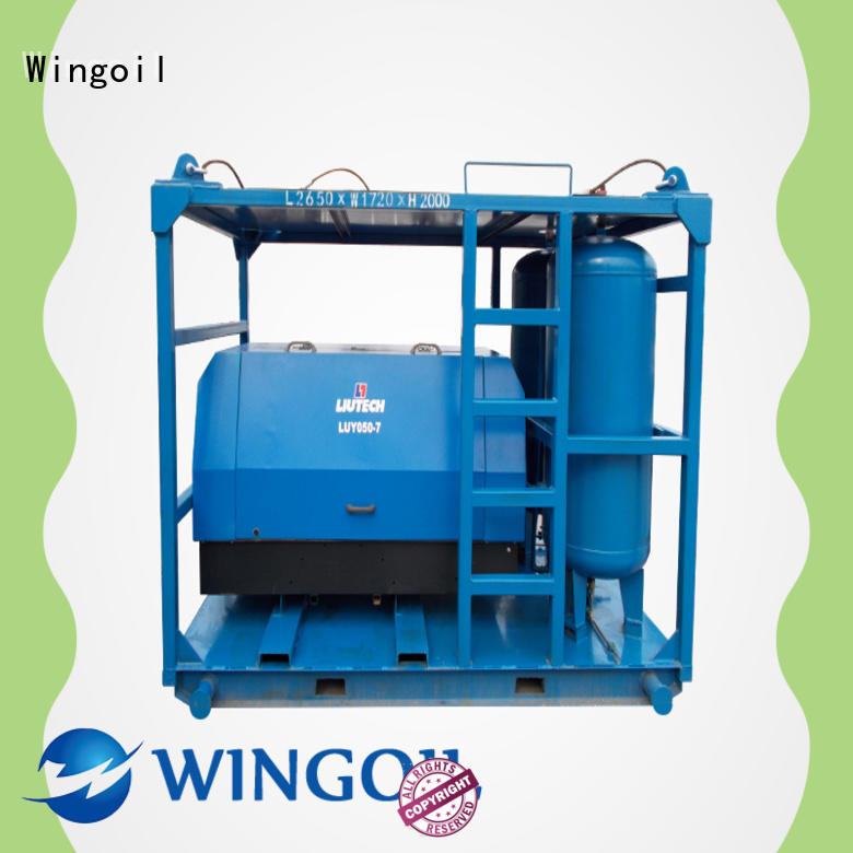 Wingoil pressure test pipes with air With Flow Meter for onshore