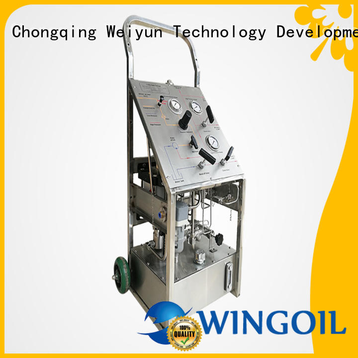 Wingoil hydrostatic test pump widely used for offshore