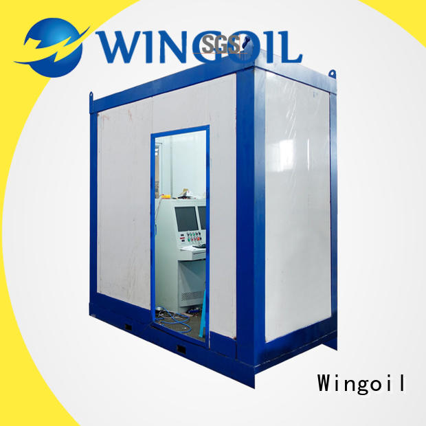 Wingoil Top hydrotesting infinitely for onshore