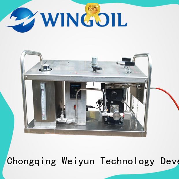 Wingoil popular high pressure test pump unit factory for onshore