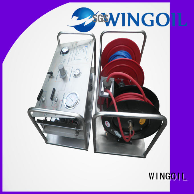 Wingoil hydro test products manufacturers for onshore