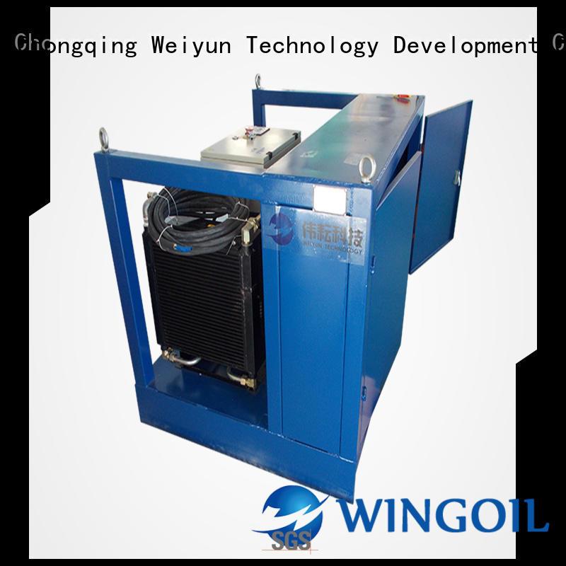 Wingoil plumbing pressure test company for onshore