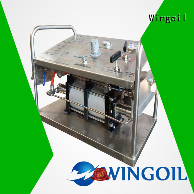 Wingoil electric hydrostatic test pump infinitely for offshore