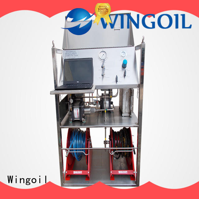 Wingoil Safety pneumatic pressure testing equipment With Flow Meter for onshore