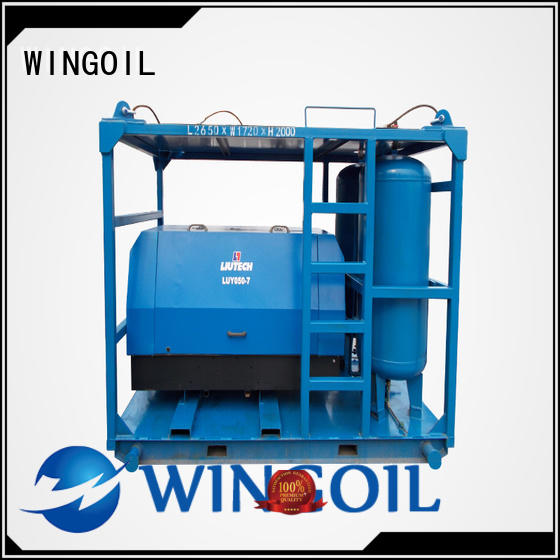 Wingoil pipeline pressure testing equipment With Flow Meter for onshore