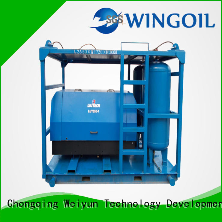 Wingoil hose pressure testing equipment for onshore