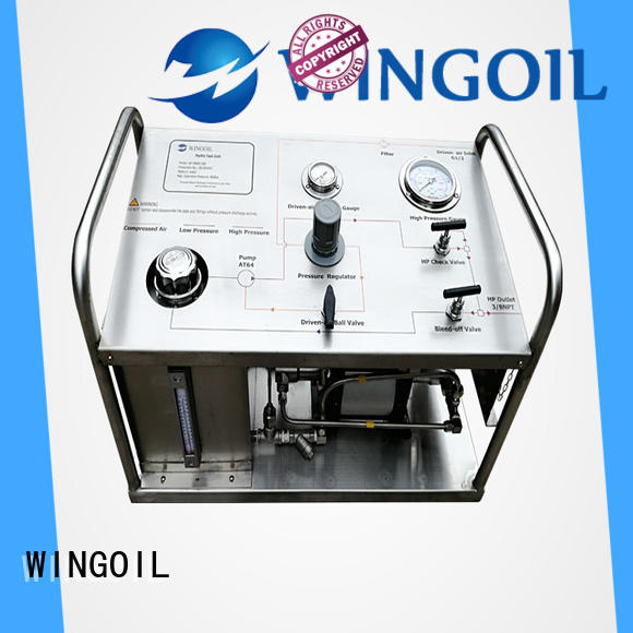 Wingoil professional portable hydrostatic test pump infinitely For Oil Industry