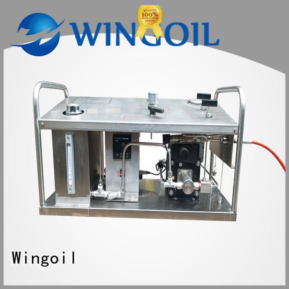 Wingoil rice hydrostatic pressure test pump manufacturers For Gas Industry
